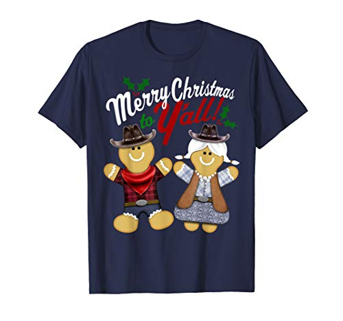 Merry Christmas To Y'all Country Gingerbread Graphic T-Shirt