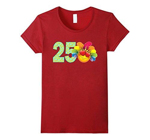 Womens 25 Year Old Emoji 25th Birthday TShirt XL (Red Dress Lady Emoji Costume)
