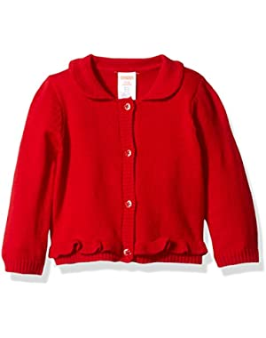 Baby Girls' Red Cardigan Sweater