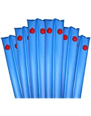 Robelle 3809-6 6-Pack Double Chamber No-Roll Deluxe Water Tube Covers for Pool, 8-Feet, Blue