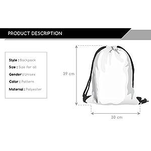 Ababalaya 3D Print Drawstring Backpack Rucksack Shoulder Bags Gym Bag, Squid Foot