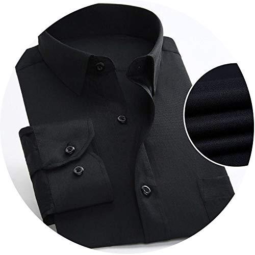 Business Men's Shirt Casual Long Sleeve Classic Striped Shirt Social Male Male Shirt Dress,1215,4XL Label 46 ()