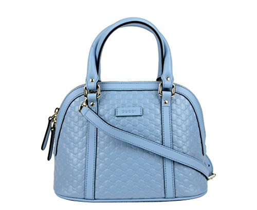 - Gucci Women's Light Blue Guccissima Leather Mini Crossbody Dome Bag 449654