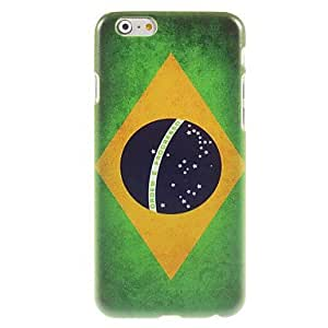 QJM Brazilian Flag Design Hard Case for iPhone 6