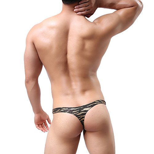 872a9d54300868 MuscleMate Premium Hot Men's Thong Leopard Print G-String Comfort Thong Low  Raise Underwear outlet