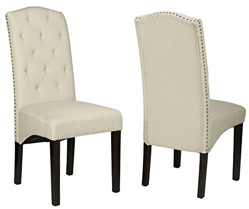 Cortesi Home Perri Dining Chair, Beige Linen, Set Of 2 Price