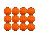 12 Pack of Velocity Lacrosse Ball. Color Orange.