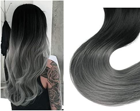 Short Black Ombre Hair Extensions Halo Gray Wire Sercet Crown Synthetic Grey Wavy Curly Hairpieces For Women Invisible Heat Resistant Fiber 12 3 5oz Sarla Buy Online At Best Price In Uae