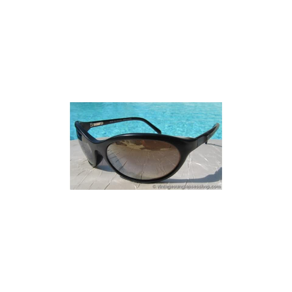 Maui Jim MJ 159 Black Wrap Mirrored Lens Sunglasses