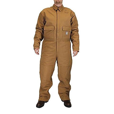 Carhartt Men's 101620 Flame-Resistant Duck Coverall - Quilt Lined - Medium Tall - Carhartt Brown