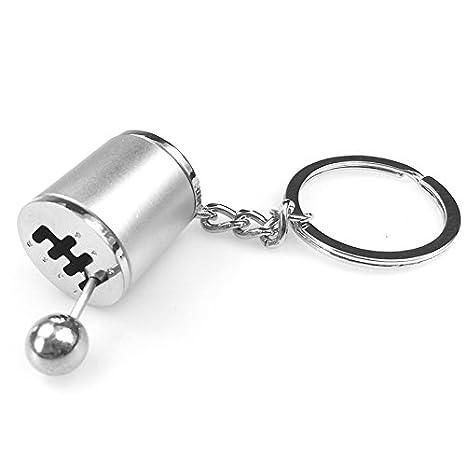 ROKOO Key Chain Ring Fob Keyring Creative Car 6 Speed Gearbox Gear Shift Racing Tuning Model Keychain