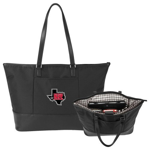 Sul Ross Stella Black Computer Tote 'Primary Mark' by CollegeFanGear