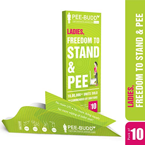 PeeBuddy Freedom to Stand and Pee Female Urination Device – 10 Funnels with Flushable and Disposable Toilet Seat Cover…