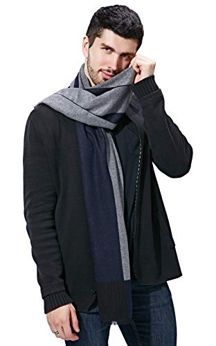 Scarf Long Winter Fashion - FULLRON Men Winter Cashmere Scarf - Long Soft Fashion Cotton Scarves