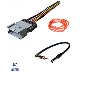 aftermarket radio wire harness adapter automotive parts online com asc audio car stereo wire harness and antenna adapter for some buick chevrolet gmc hummer isuzu