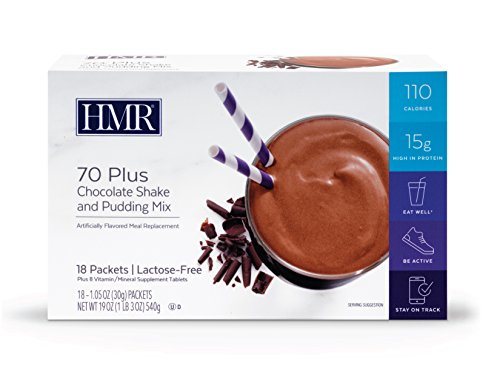 HMR 70 Plus Chocolate Shake and Pudding Mix, 18 Single-Serve Packets   by HMR