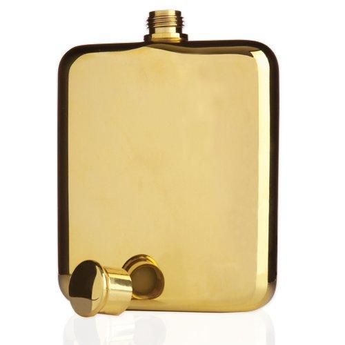 Belmont Gold Plated Flask by Viski – (6 oz. capacity)