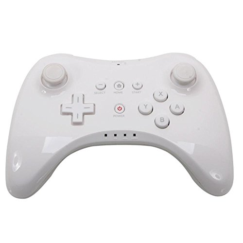 Accmart Wireless Classic Pro Controller Gamepad for Nintendo Wii Wii U White