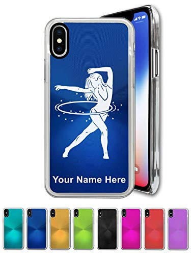 Case for iPhone X, Hula Hoop Woman, Personalized Engraving Included ()