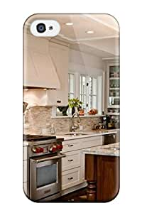 Iphone Cover Case - Kitchen With White Cabinets And Wood Island Protective Case Compatibel With Iphone 4/4s