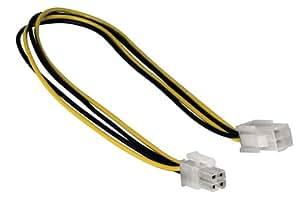 Hama - 00041864 - Alargador de fuente de alimentación (4 polos, 12 V, ATX, 0,3 m)