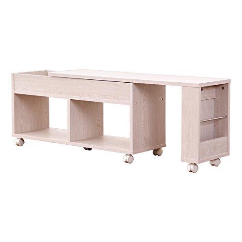 ベッドサイドラック ホワイトオーク(スライド式シングルセミダブルダブルサイズ調整可能)ベッド収納ベッドチェスト B01MZDQFFM ホワイトオーク ホワイトオーク
