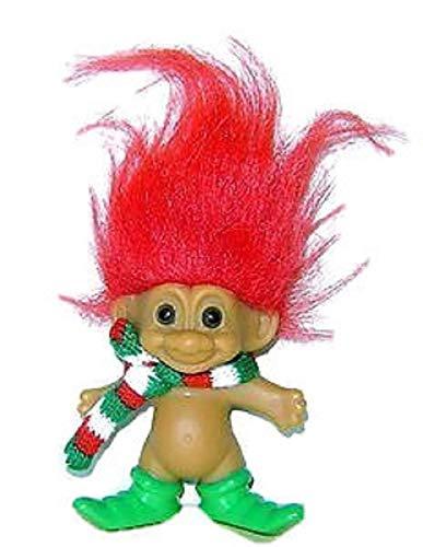 Russ Lucky 4 Inch Christmas MERRY LITTLE ELF TROLL Doll Figure (GREEN Hair) by ()