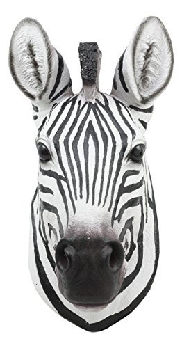 Ebros Madagascar Safari Zebra Horse Bust Wall Decor Savanna Grassland Wildlife Wall Mount Sculpture Plaque 9.5