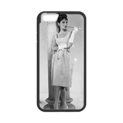 Audrey Hepburn Black coque iPhone 6 Plus 5.5 Inch Housse téléphone Noir de couverture de cas coque EBDOBCKCO13450