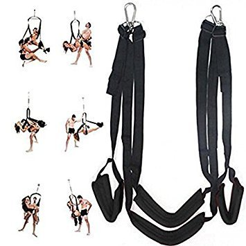 360 Spinning Adult Sex Swing Sex Ceiling, Aomingor Sex Adult Swing Bondage Restraints Kit Spin-Safety Rated To 800 LBS, Includes Frame, Body Indoor Yoga Swing for Couples, Black by Eoeyog