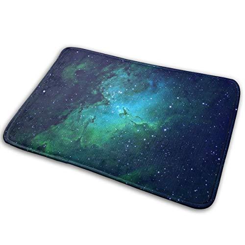 Galaxy Green Printed Differentiate Area Rugs Carpet Non Slip Bath Mat Absorbent Super Cozy Bathroom Mat Rug Pad(15