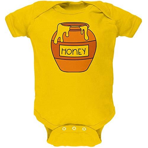 Honey Jar Halloween Costume (Old Glory Halloween Honey Pot Honeypot Costume Soft Baby One Piece Yellow 9-12)