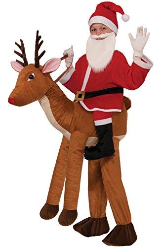[Santa Claus Ride-A-Reindeer Child Costume] (Child Ride A Reindeer Costumes)