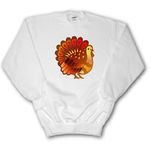 TNMGraphics Holidays - Thanksgiving Turkey - Sweatshirts - Adult SweatShirt XL (ss_62708_4) (Turkey Size For 4 Adults)