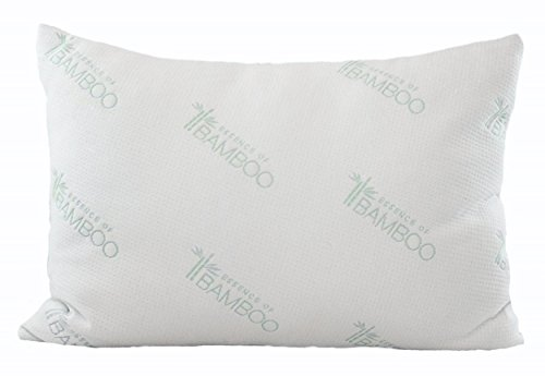 Why Choose Ultimate Essence of Bamboo Pillow – with Premium Bamboo Derived Rayon/Poly Cover and USA Made Hypoallergenic Down Alternative Poly Fiber Fill