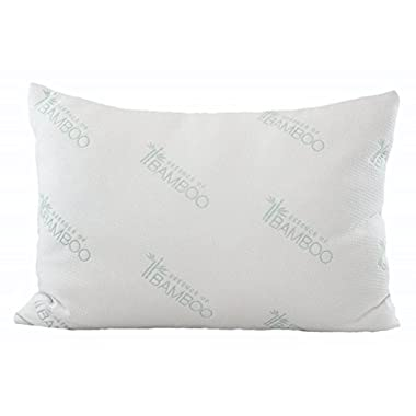 Ultimate Essence Of Bamboo Pillow - With Premium Bamboo Derived Rayon / Poly Cover and USA Made Hypoallergenic Down Alternative Poly Fiber Fill