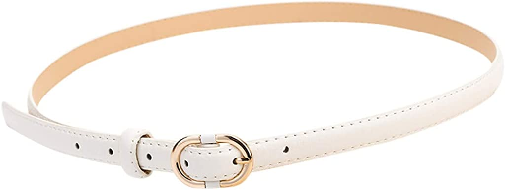 Moda Cintura in Pelle da Donna Nuova in Pelle con Fibbia in Metallo Colore Puro Cintura Elastica Regolabile di Moda