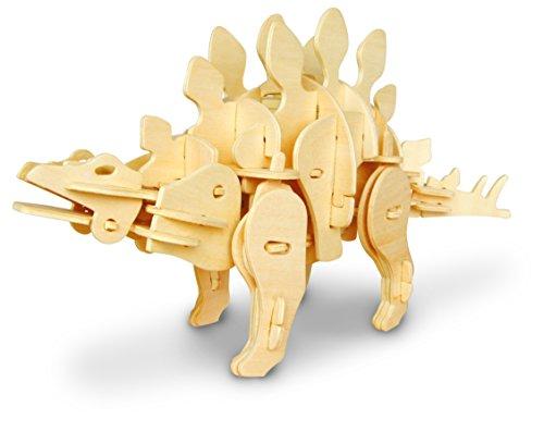 (RoWood Moving Dinosaur DIY Model Building Kits, Gift for Boys Girls Kids - Jurassic Stegosaurus (Sound Control))
