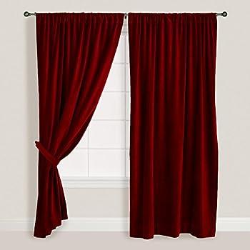 Amazon Com Mocha Thick Velvet Curtains Absolute