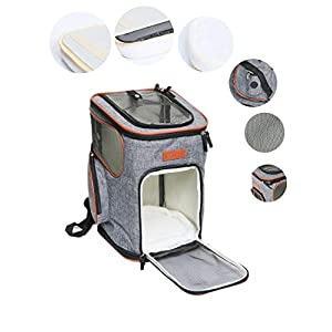ICOSPET Soft-Sided Pet Carrier Backpack for Small Dogs and Cats Airline-Approved, Designed for Travel, Hiking, Walking…