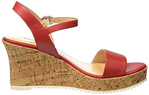 BATA 7615523, Sandalia con Pulsera para Mujer Rojo (Rosso)