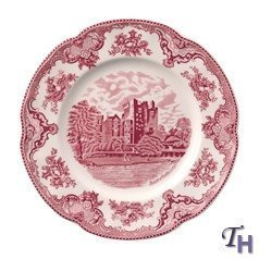 Johnson Bros. Old Britain Castles Pink Dinner Plates - Johnson Bros Old Britain Castles