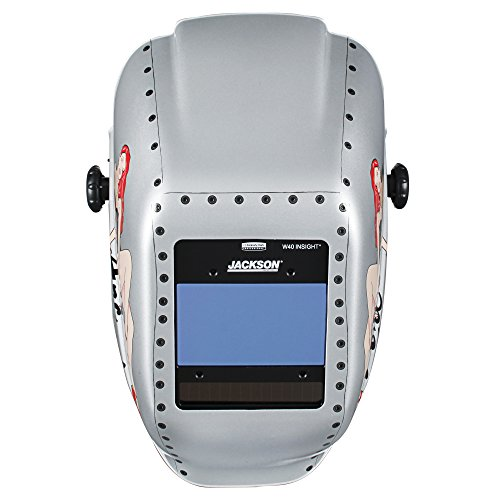 Jackson Safety Insight Variable Auto Darkening Welding Helmet, HaloX (46130), Arc Angel, 1 Helmet / Order by Jackson Safety (Image #1)