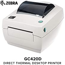 Zebra - GC420d Direct Thermal Desktop Printer for Labels, Receipts, Barcodes, Tags, and Wrist Bands - Print Width of 4 in - USB, Serial, and Parallel Port Connectivity