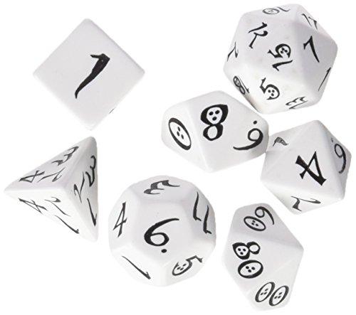 Q-Workshop Classic RPG Dice White/Black (7) Board Game