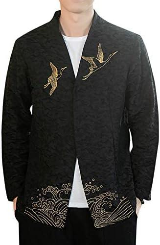 カーディガン メンズ 羽織 和式パーカー 開襟シャツ コットン カジュアル 大きいサイズ 春 夏