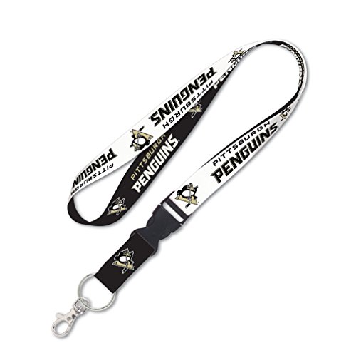 NHL Pittsburgh Penguins Lanyard with Detachable Buckle, 1-Inch
