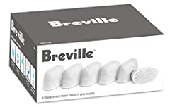 Breville BWF100 replacement filters for the BKC600XL Gourmet Single Cup Coffee Brewer. Includes a one year supply of 6 charcoal filters.Espresso and coffee can only taste as good as what goes into it. These filters make sure that the espresso...