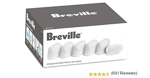 Breville BWF 100 - Filtros de carbón de repuesto (6 unidades ...