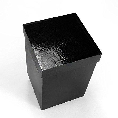 25ea - 6 X 6 Gloss Black Lux Fld-Up Gift Box Lid-P Width 6'' by Paper Mart